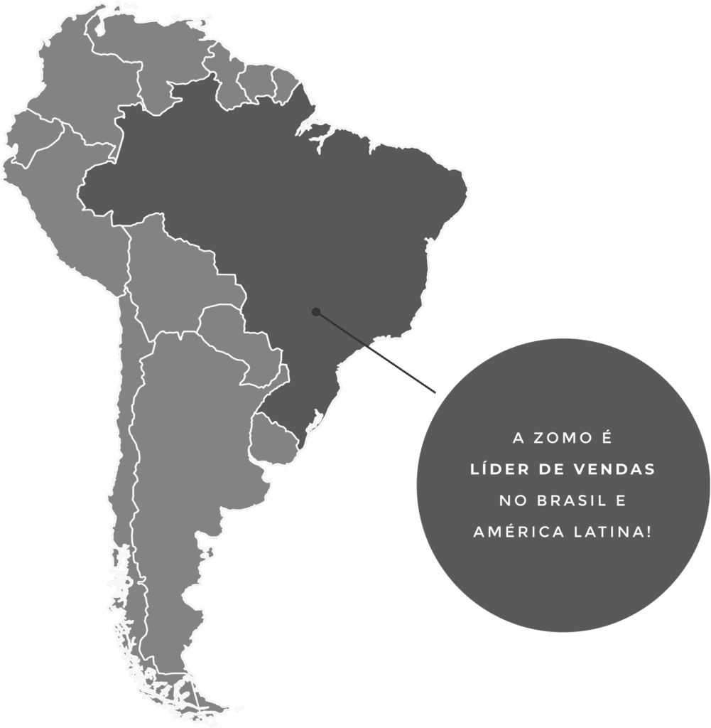 Mapa do brasil com zomo lider de vendas